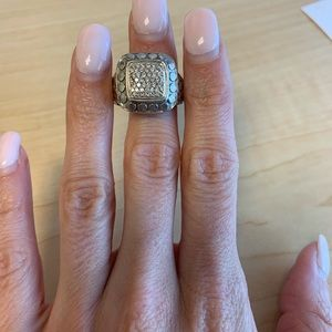 Men's John Hardy Silver & Diamond Ring